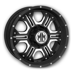 Mayhem HAVOC Matte Black/Milled 17X8 8-170 Wheel