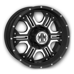 Mayhem HAVOC Matte Black W/ Machined Spokes 20X9 5-150 Wheel