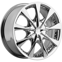 Helo HE827 Chrome 17X8 5-120.7 Wheel