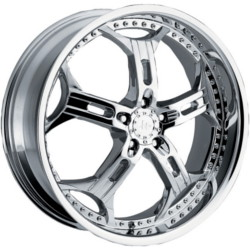 Helo HE834 Chrome 22X9 5-115 Wheel