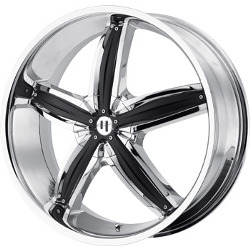 Helo HE844 Chrome W/ Gloss Black Accents 20X8 5-114.3 Wheel