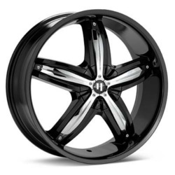 Helo HE844 Gloss  Black W/ Chrome Accents 20X8 5-114.3 Wheel