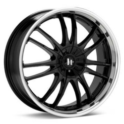 Helo HE845 Gloss Black Machined 17X8 5-112 Wheel