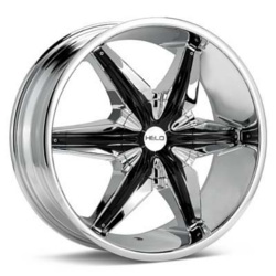 Helo HE866 Chrome With Gloss Black Accents 24X10 5-120.7 Wheel