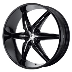 Helo HE866 Gloss Black With Chrome Accents 22X10 5-127 Wheel