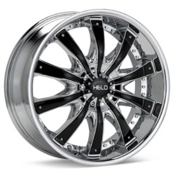Helo HE875 Chrome With Gloss Black Accents 26X10 5-112 Wheel