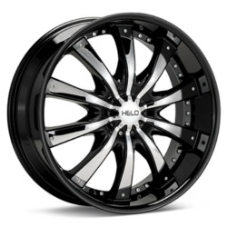 Helo HE875 Gloss Black With Chrome Accents 22X10 5-112 Wheel