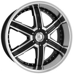 DIP HEAT Black/Machined 20X9 5-114.3 Wheel