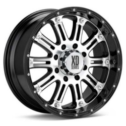 KMC-XD Series HOSS Gloss Black With Machined Face 17X9 6-139.7 Wheel