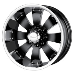 Mazzi HULK Black W/ Machined Lip 18X10 8-165.1 Wheel