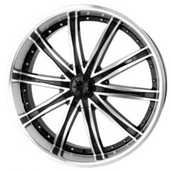 DIP ICE Black/Machined 20X9 5-108 Wheel