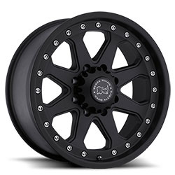 Black Rhino IMPERIAL Matte Black 18X9 8-170 Wheel