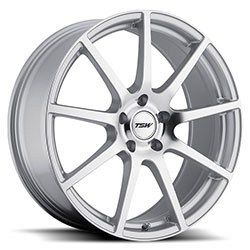 TSW INTERLAGOS Silver W/Mirror Cut Face 18X9 5-120.7 Wheel