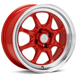 Enkei J-SPEED Red With Machined Lip