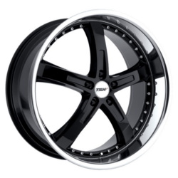 TSW JARAMA Gloss Black Mirror Lip 19X8 5-112 Wheel
