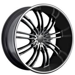 KMC KM682 Gloss Black Machined Face 24X9 5-112 Wheel