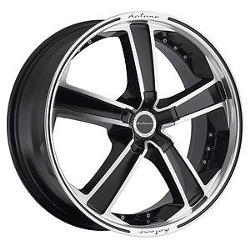 Katana Racing KR12 Black Machined Face 20X9 5-100 Wheel
