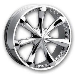 Mazzi KRANK Chrome 22X10 6-135 Wheel
