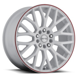 Katana Racing KRM White W/ Red Stripe 17X8 5-114.3 Wheel