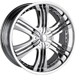 Mazzi KRUSHER Chrome 24X10 5-120.7 Wheel