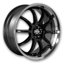 Katana Racing KS-D Black Machined Lip 18X8 4-114.3 Wheel