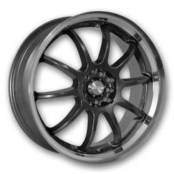 Katana Racing KS-D Gunmetal Machined Lip 18X8 4-114.3 Wheel