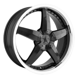 DIP LASER Black/Machined 18X8 4-114.3 Wheel