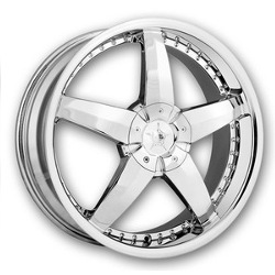 DIP LASER Chrome 18X8 5-100 Wheel