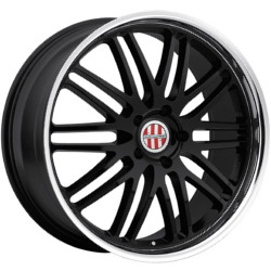 Ace LEMANS Black Mirror Lip 18X11 5-130 Wheel