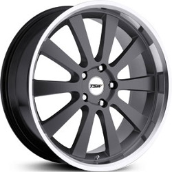 TSW LONDRINA Gunmetal W/Mirror Lip 22X11 5-114.3 Wheel