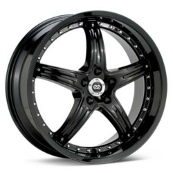 Enkei LS-5 Black 20X9 5-112 Wheel
