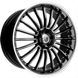 Lexani LSS-11 Black/Machine Ss Lip 22X10 5-112 Wheel