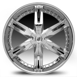 Lexani LX-30 Chrome 22X10 5-112 Wheel