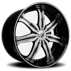 Lexani LX-7 Black/Machine Wheel