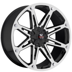 Strada M01 Matte Black W/ Machined Face 20X10 5-139.7 Wheel