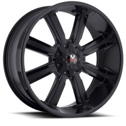 Strada M03 Matte Black W/ Machined Face 20X9 6-139.7 Wheel