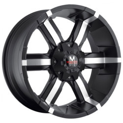 Strada M06 Matte Black W/ Machined Face 20X9 5-112 Wheel