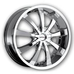 MKW M102 Chrome 17X8 4-100 Wheel