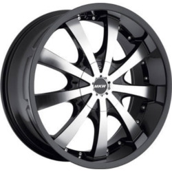 MKW M102 Gloss Black Machined Face 17X8 4-100 Wheel
