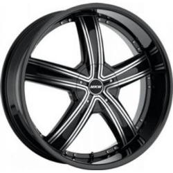 MKW M103 Gloss Black Machined Face 22X10 5-115 Wheel