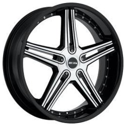 MKW M104 Gloss Black Machined Face 17X8 5-110 Wheel