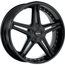 MKW M104 Satin Black 22X9 5-120 Wheel