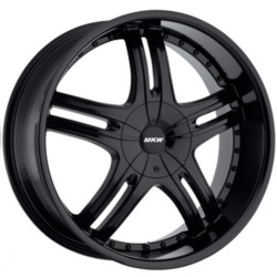 MKW M105 Satin Black 24X10 6-135 Wheel