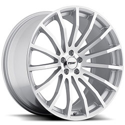 TSW MALLORY Silver W/Mirror Cut Face 17X8 5-112 Wheel