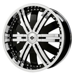 Black Ice MARAUDER Black w/Chrome 22X9 5-112 Wheel