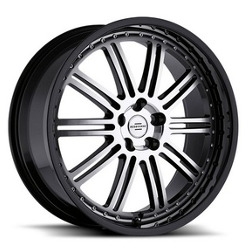 Redbourne MARQUES Gloss Black W/Mirror Face Black Lip 20X10 5-120 Wheel