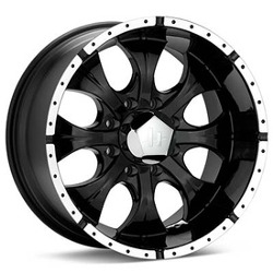 Helo MAXX 8 Spoke Gloss Black Machined 17X9 8-165.1 Wheel