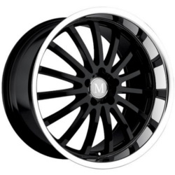 Mandrus MILLENIUM Gloss Black Mirror Lip 18X10 5-112 Wheel
