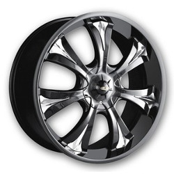 Baccarat MIRAGE Black 20X9 5-112 Wheel