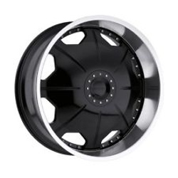 Strada MIRROR Black W/ Machined Lip 26X10 5-135 Wheel